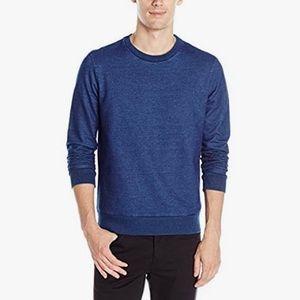 Theory Danen Denim Terry Sweater